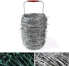 Casa Pura Galvanised Barbed Wire Barbed Wire For Wire Fencing Roller With Carry Handle Super Resistant 50m Length Amazon Co Uk Garden Outdoors