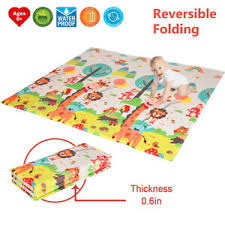 Foldable Play Mat Large Tummy Time Folding Reversible Baby Mats Kids Playroom Ebay