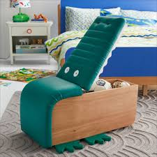 Alligator Upholstered Storage Ottoman By Drew Barrymore Flower Kids Kids Room Furniture Kid Room Decor Storage Kids Room