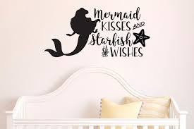 The Little Mermaid Mermaid Kisses Starfish Wishes Wall Decal Sticker 2 Lucky Girl Decals