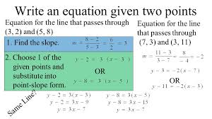 2 4 more linear equations point slope