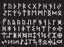 Wektory Stockowe Runiczny Pismo Runiczne Vikings 4 Rysunki