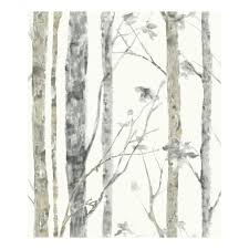 Roommates Faux Birch Trees Peel Stick Wallpaper Wall Decal