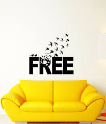 Vinyl Wall Decal Free Word Quote Flock Of Birds Motivational Inspirati Wallstickers4you