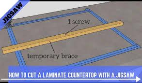 cut a laminate countertop with a jigsaw