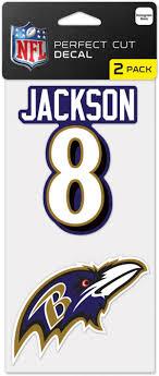 Wincraft Baltimore Ravens Lamar Jackson 2pk Decal Dick S Sporting Goods