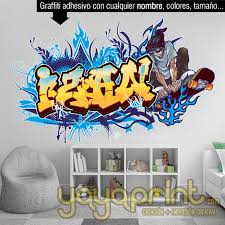 Design Graffiti Art Name With Character Or Logo Wall Decal Printable By Carlosnietocom