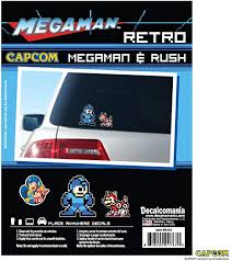 Amazon Com Megaman And Rush Retro Arcade 8 Bit Decals Mega Man Sticker Vehicle Decal Sticker Laptop Decal All Weather Proof Vinyl Stickers Licensed Capcom Decals Automotive