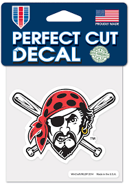 Pittsburgh Pirates 4x4 Jolly Roger Auto Decal Yellow 5719962