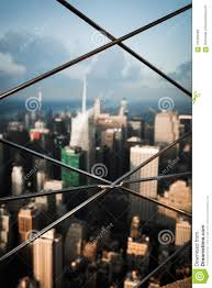 Fencing On The Observation Deck Of Empire State Building Stock Image Image Of Modern Landmark 107383485