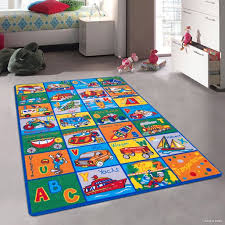 Allstar Kids Baby Room Area Rug Learn Abc Alphabet Letters Transportation Bright Colorful Vibrant Colors 3 3 X 4 10 Walmart Com Walmart Com