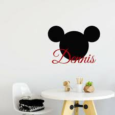 Mickey Mouse Head Personalized Vinyl Wall Decals