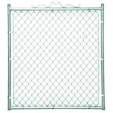 Yardgard 48 In W X 48 In H Galvanized Steel Welded Walk Through Chain Link Fence Gate 328312a The Home Depot Chain Link Fence Gate Chain Link Fence Fence Gate