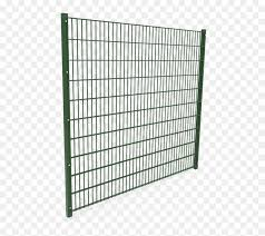 A Piece Of Green Powder Coating Double Wire Fence Panel Fence Hd Png Download Vhv