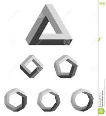 Penrose Triangle And Polygons Gradated Black Stock Vector - Illustration of  penrose, square: 75016772