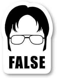 Office Funny Quote Stickers Window Truck Car Vinyl Bumper Sticker Decal 5 Dwight False Automotive Motorcycle Atv