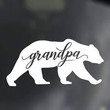 Amazon Com Custom Grandpa Bear Decal Bumper Sticker For Tumblers Laptops Car Windows Grandfather Gift Handmade