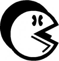 Custom Pac Man Decals And Pac Man Stickers Any Size Color