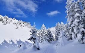 تحميل خلفيات المناظر الطبيعية في فصل الشتاء Alinci الجبال