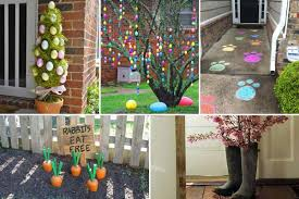 29 cool diy outdoor easter decorating