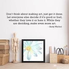 Make Even More Art Decal Andy Warhol Quote Craft Room Wall Etsy