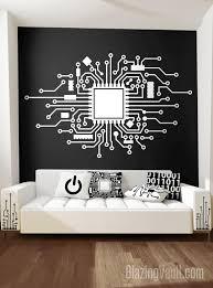Circuit Board Wall Decal Custom Cpu Wall Sticker Technology Etsy