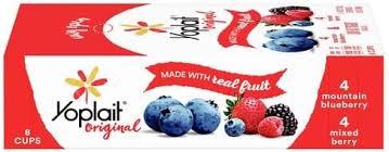 mounn blueberry mixed berry yogurt