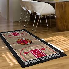 chicago bulls 2 x4 printed runner rug