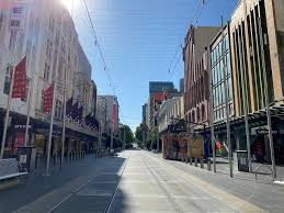 shopping district amid coronavirus ...