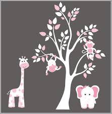 Pink Nursery Decals White Nursery Decals Baby Girls Decals Cute Nurserydecals4you