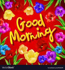 bird with flower greeting good morning