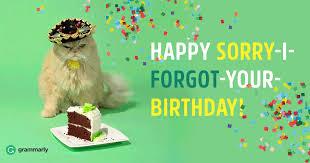 happy belated birthday or belated happy birthday grammarly