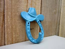 Cowboy Hat Hook Cowgirl Hook Horseshoe Hook Cast Iron Etsy