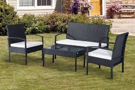 4pc garden rattan furniture set