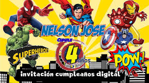 Super Heroes Invitacion Digital Dinamita Producciones Youtube