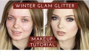 mypaleskin winter glam glitter makeup