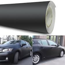 12x60 Matte Black Vinyl Film Wrap Car Diy Sticker Vehicle Decal Car Wraps Satin Matt Black Foil Car Wrap Film Vehicle Sticker Car Stickers Aliexpress