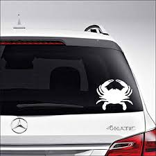 Amazon Com Aampco Decals Crab Seafood Car Truck Motorcycle Windows Bumper Wall Decor Vinyl Decal Sticker Size 6 Inch 15 Cm Wide Color Matte White