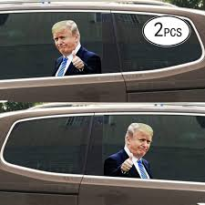 Amazon Com Ninethot Ride With Trump Stickers Car Window Stickers Car Decal Donald Trump Stickers Window Cling Easy Removal Leaves No Residue Automotive