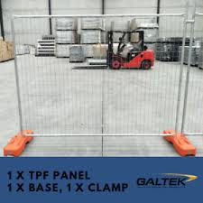 Construction Temporary Fencing 1 X Galvanised Fence Panel With Clamp And Base Ebay