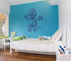 Amazon Com Pirate Wall Decals For Boys Room Pirate Ship Jolly Roger Map Crossbones Pirate Decorations For Home Nursery Room Pirate Door Stickers Pi081 Home Kitchen