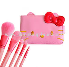 o kitty makeup brush set from china