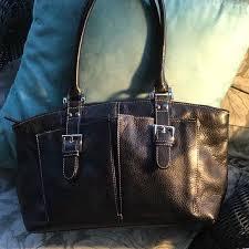awesome black leather shoulder bag