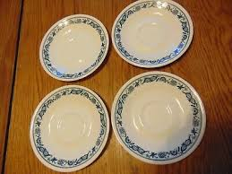 corelle old town blue pottery glass