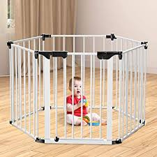 Folding Fireplace Fence Bammax Extensible Baby Safety Fence Hearth Gate Playpen 3 In 1 Multi Function Play Yard Durable Pet Steel Fire Gate White Buy Products Online With Ubuy New Zealand In