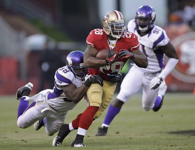 Image result for Christian Ponder Minnesota Vikings San Francisco 49ers Justin Smith""