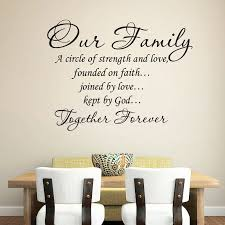 Fashion Wall Decals Quotes Vinyl Sticker Decal Quote A Circle Of Strength And Love Our Family Phrase Home Decor Art Design O28 Wall Stickers Aliexpress