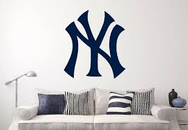 New York Yankees Mlb Wall Decal Sports Baseball Sticker Vinyl Decor Ebay Vinyl Decor Sports Wall Decals 3d Wall Decals