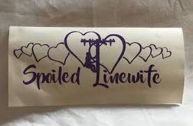 Spoiled Linewife Decal Linewife Decal Linemans Wife Decal Etsy In 2020 Lineman Wife Window Stickers Gifts For Wife