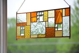 stained glass window panel hanging